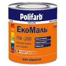 Эмаль Polifarb ЭКО ПФ-266 желто-коричневая, 2,7 кг