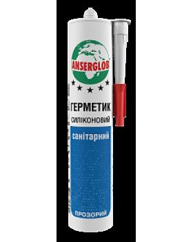 """Герметик силиконовый """"Anserglob"""" санитарний. Белый, 280мл"""