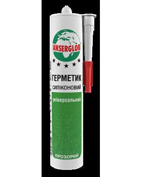 """Герметик силиконовый универсальный """"Anserglob"""". Белый, 280мл"""