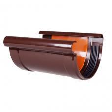 """Соединитель желоба коричневый """"Profil"""" 130 мм"""