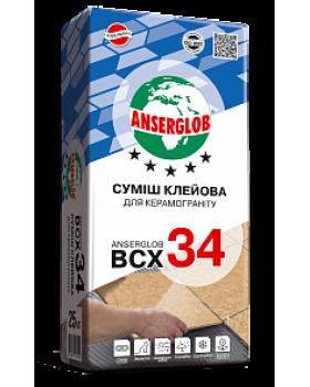 """Клей для керамогранита """"BCX-34"""" """"Anserglob"""" 25 кг"""